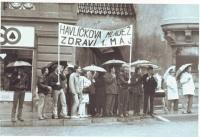 Havlíčkova mládež zdraví 1. máj, 1989, Tomáš Holenda druhý zleva (foto Jan Schneider)