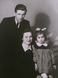 Eliška Bočková s rodiči
