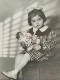 Eliška Bočková jako dítě