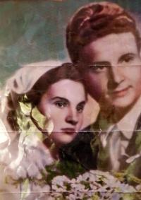 Ludvík Florián na svatební fotografii se svou první manželkou Eliškou