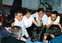 Václav Klaus se zástupci novojičínského Občanského fóra / 1990