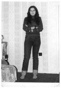 Jiřina Nehybová během studia na gymnáziu