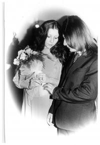 Svatba Jiřiny Nehybové s Romanem Nehybou