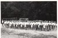 Tábor Ledeč nad Sázavou 1967-1971 nástup na olympiádu