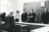 Josef Baxa jako soudce Okresního soudu v Plzni, cca 1985