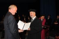 Převzetí Zlaté medaile Technické univerzity v Liberci