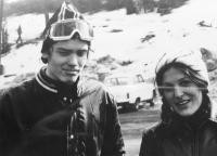 Pavel Svítil s budoucí ženou v roce 1975