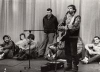 Talks with the audience in the F. X. Šalda Theatre Liberec, 1989