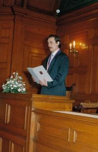 As a representative during weddings, 1990s
