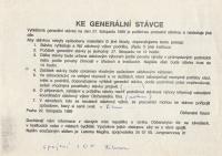 Pokyny OF ke generální stávce, 22. listopadu 1989