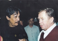 In the library with Václav Havel, 2006