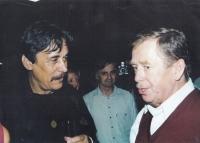S Václavem Havlem v knihovně, 2006