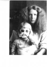 Jana Soukupová s dcerou Lucií, 1982