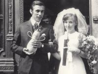 Duškovi wedding, 1969