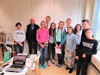 Žáci České školy bez hranic Rhein-Main s Pavlem Taussigem