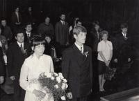 Svatba Michala Hrona se Zdeňkou Štýbrovou, Liberec, 9.10.1971