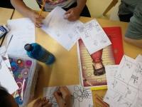 Práce na ilustracích a textu ke komiksu