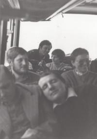 Služební cesta pracovníků Textilany na veletrh v Brně, 2. pol 80. let