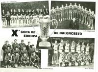 Four best teams in the FIBA European Cup Winners' Cup in 1966 - 1976. Slavia bottom left, Jiří Zídek, second from the left in topmost row.