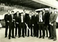 Jiří Zídek (fifth from the left), undated photograph