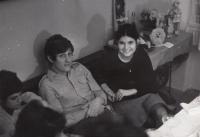 Michal Hron se sestřenicí Evou Lorencovou