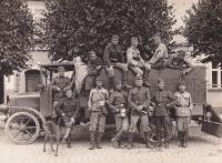 Otec během voj. služby v Turnově, 1930