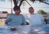 Michal Hron se synem Davidem, Izrael, 2007
