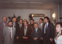 Zdeněk Hrubý and Václav Havel, 2. 11. 1993 - meeting with the city council