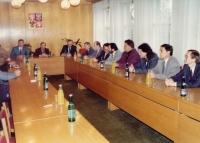 Zdeněk Hrubý a Václav Havel, MěÚ Břeclav, 2. 11. 1993