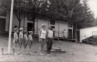 Vlasta s manželem Mirkem na táboře v Ledči nad Sázavou  1967-1974