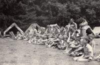 Tábor v Ledči nad Sázavou cca 1967