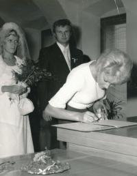 Svatba Václava a Věry Daškových, 1976