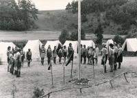 Na táboře v Chramostech, 1969