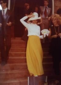 Svatba s Cesarem v kostele, Milán, červenec 1972