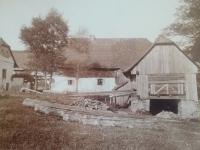 Původní podoba Mrkvičkova mlýna, který v roce 1943 vyhořel