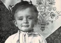 Milan Blažek jako malý chlapec,  cca v roce 1963