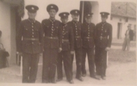 Richard Drábek (right) aged 17 in the firefighter corps.