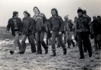 Svazácký pochod na gymnáziu v Poličce