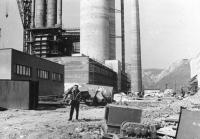 Výstavba cement. v Turně nad Bodvou, 1968