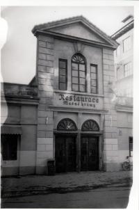 Masné krámy v Českých Budějovicích v 80. letech 20. století