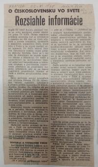 """Článok, denník Pravda 22.novembra 1968 pranieruje umenie mimo oficiálnej línie socialistického realizmu a odsudzuje """"nezmyselné pohyby mechanizmov"""" Milana Dobeša."""