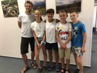 Žáci z projektu Příběhy našich sousedů s Květou Jeriovou Peckovou v Liberci v červnu 2019