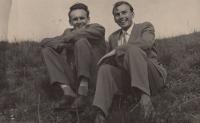 Antonín Pavel Kejdana s Františkem Čadou, 1963