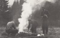 Stanování na Lvím potoce, Malá Úpa, 1959