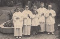 Ministranti v Náchodě, 1942