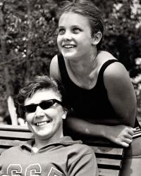 MIlena s trenérkou Marií Čermákovou, Lvov 1967