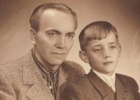 Josef Mevald s otcem