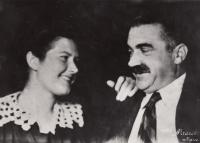 V. L. Borin, strýc Jana Kalvody, s dcerou Věrou, 1939