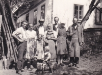 Family of E.B. in front of his native house