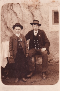E.B. as a child (standing)